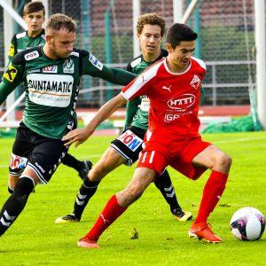 Klare 4:0-Auswärtsniederlage gegen die Jungen Wikinger Ried (2:0)